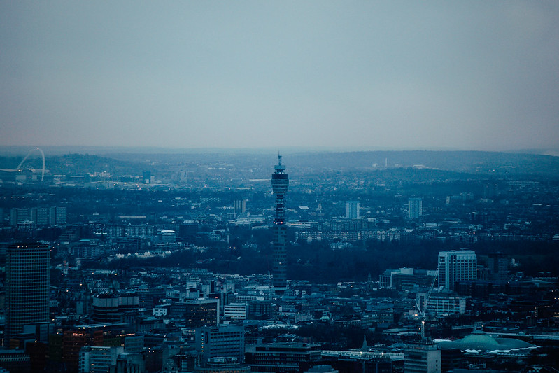 BT Tower at Dusk.