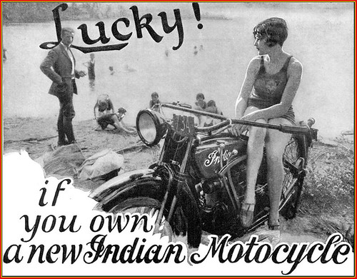 1927 Indian Beach Flapper Beauty by bullittmcqueen