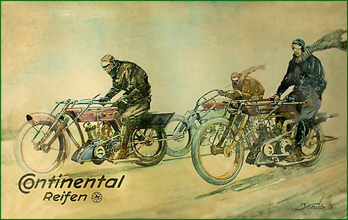 1911 Continental Tires illustration by bullittmcqueen