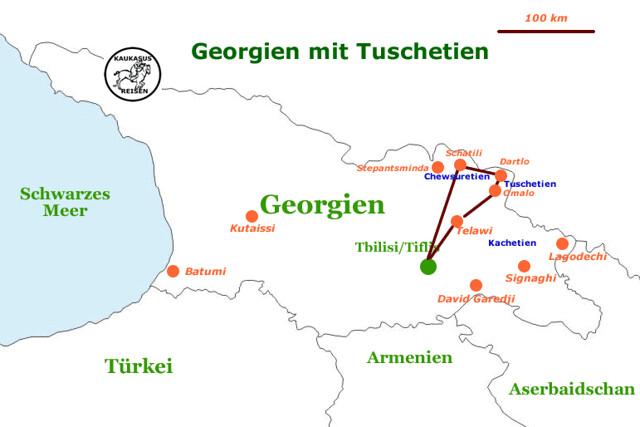 Georgien mit Tuschetien