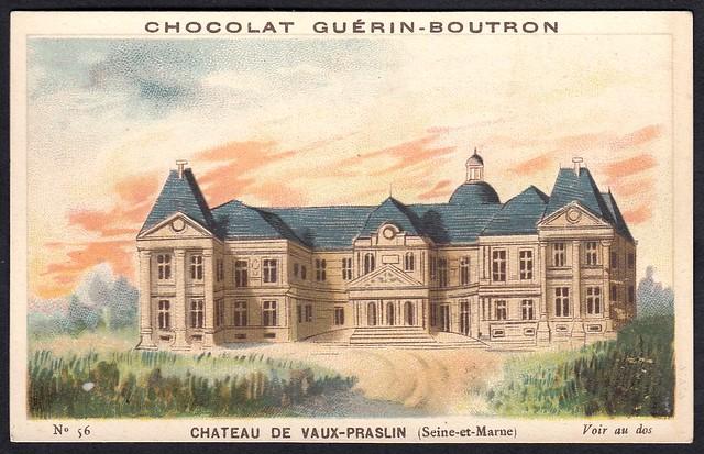 French Tradecard - Chateau de Vaux-Praslin