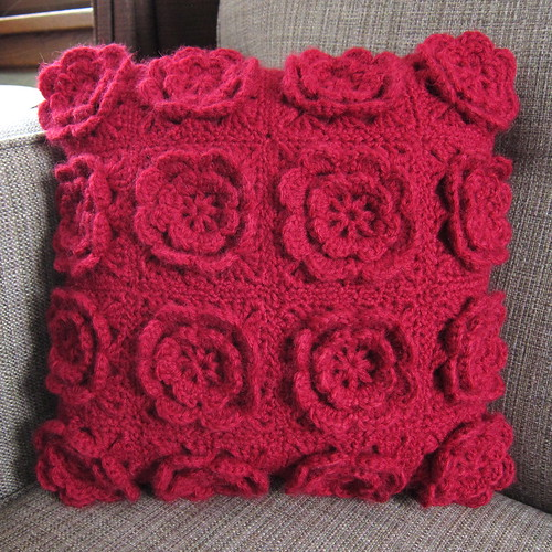 Iron Craft '13 #3 - Crocheted Flower Pillow