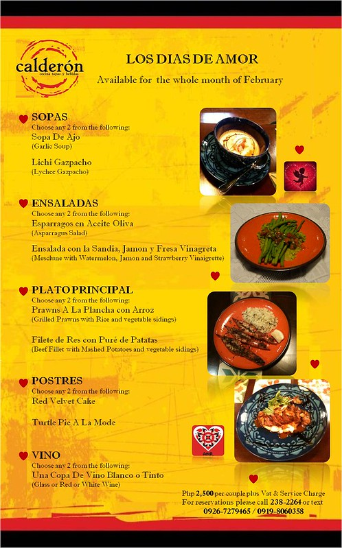 Special Couples Set Menu/Special Tapas-Wine Pairing