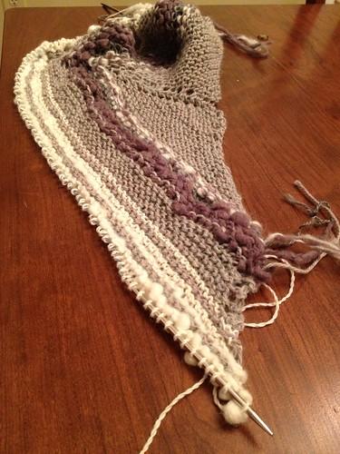 Knitting with homespun and local yarn