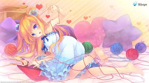 130214 - 台灣微軟Silverlight看板娘「藍澤光」歡度西洋情人節,『Valentine's Day』限定壁紙大公開!