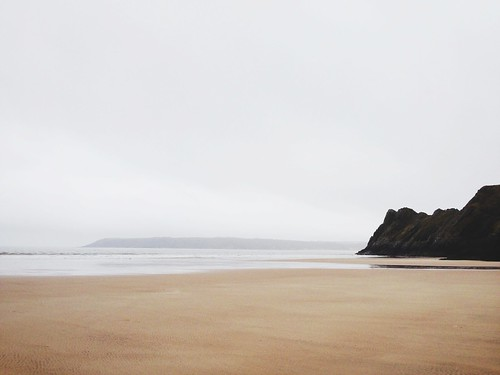 Three Cliffs Bay in the Gower Peninsula, Wales.
