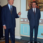 Bill Clinton and Richard Nixon at Madame Tussaud