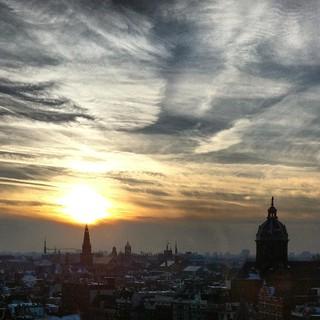 Fotografar Amsterdam: vista da cidade a partir do SkyLounge