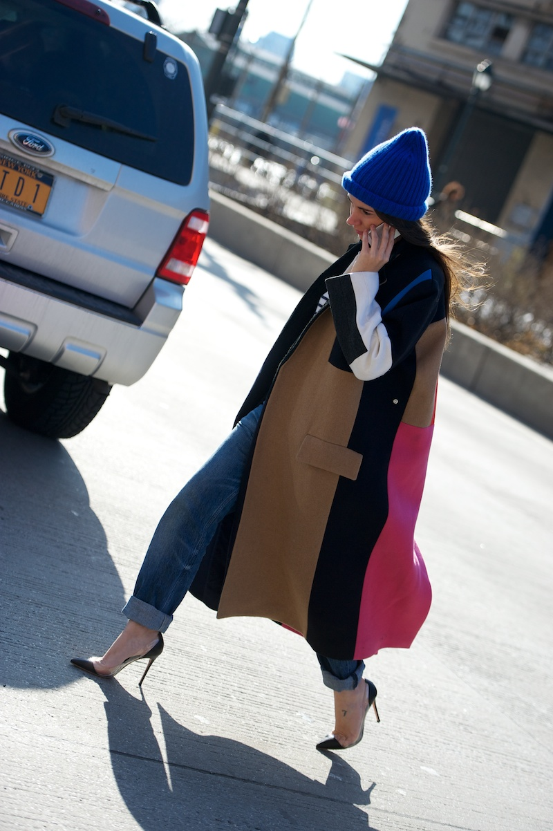 Celine color block coat