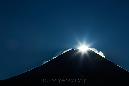 winter sun snow japan sunrise moment mtfuji 2013