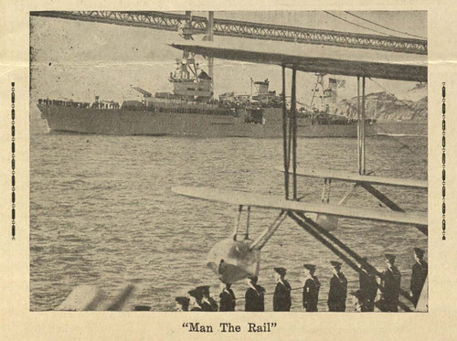 Sailors Man the Rail