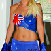 Flag Bodypaint Make Love Not War Bodyart