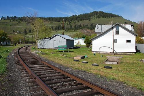 railroad house oregon track unionpacific 900 lightroom wye lagrande ut2009may