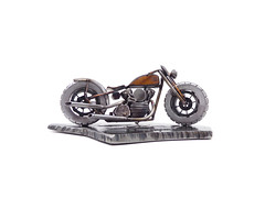 Harley knucklehead bobber sculpture