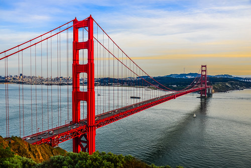 ocean sf sanfrancisco california from ca bridge sunset orange usa water america puente golden bay us gate san francisco day unitedstates pacific bur cloudy calif ponte most pont bro brug tor northern brücke brig köprü goldenes bouwwerk glowed ilobsterit