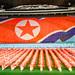 Arirang Mosaic of the North Korean Flag by Baron Reznik