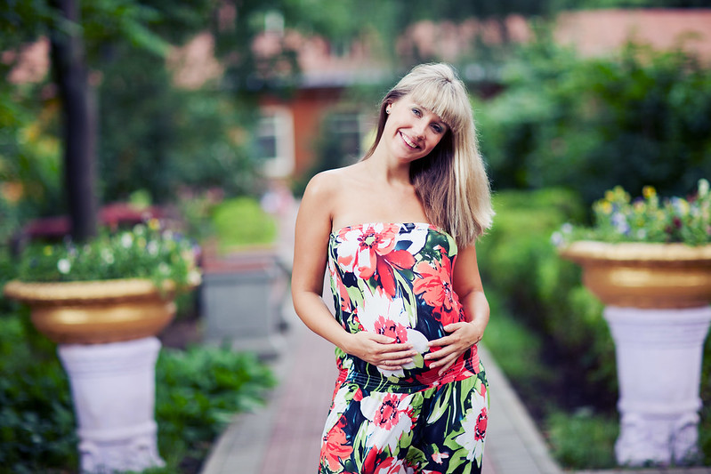 Фото беременных весной