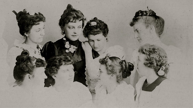 Circle of Friends, Albumen Cabinet Card, Circa 1895