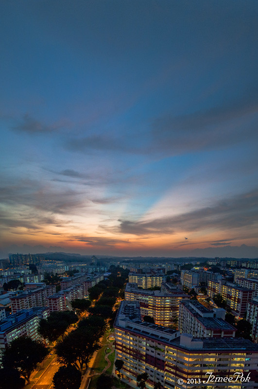 Sunset along amk
