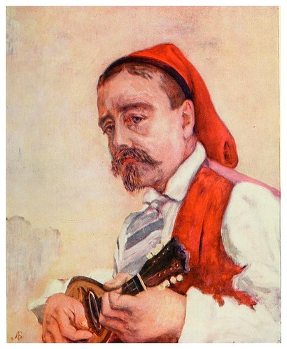 004-Tocando la Tarantela-Naples -1904- Augustine Fitzgeral