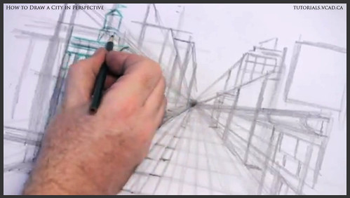 learn how to draw city buildings in perspective 012