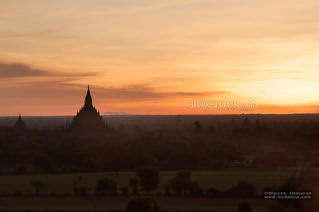 Bagan Hostel Search and First Sunrise at Shwe Sandaw Pagoda