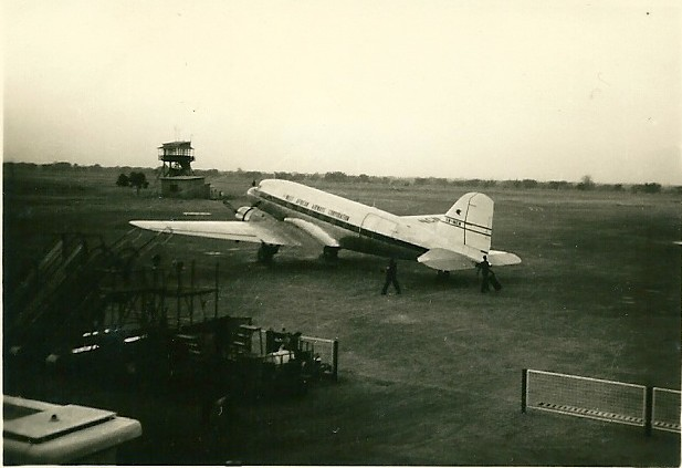 West African Airways Corporation - DC 3 arriving at Kano Airport in 1959 (copyright Jaycee1)