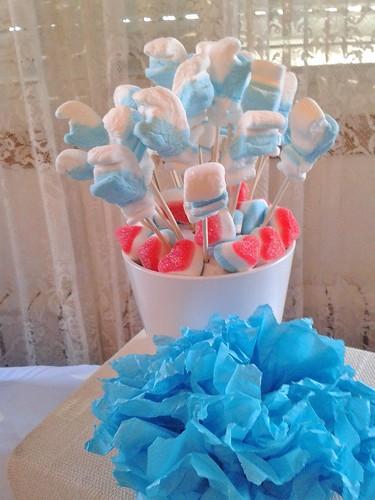 mesa dulce pitufos