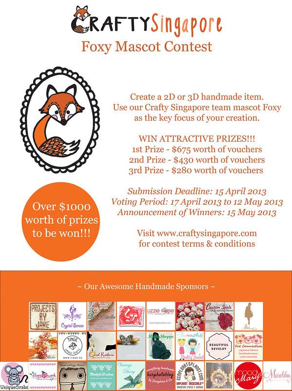 Foxy Mascot Contest Poster