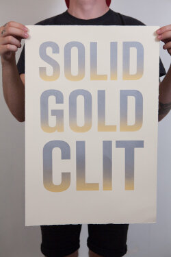 Sold Gold Clit poster