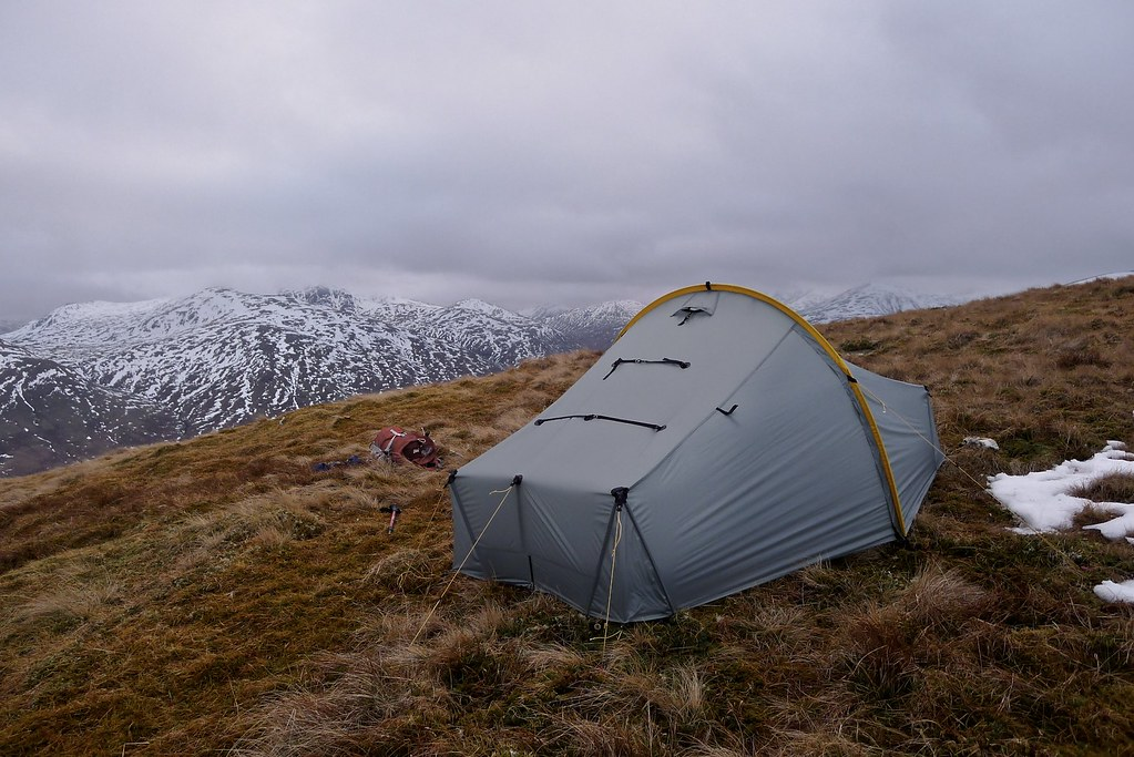 Wild camping above Glen Lyon