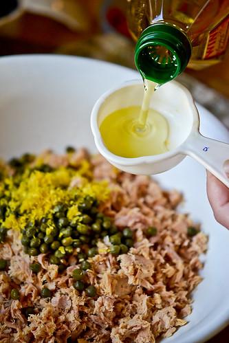 Israeli Couscous Tuna Salad-5