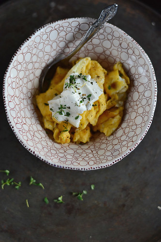 Scrambled Eggs with Goat Cheese