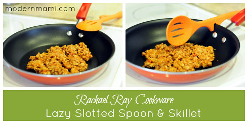Rachael Ray Non-Stick Skillet & Lazy Slotted Spoon
