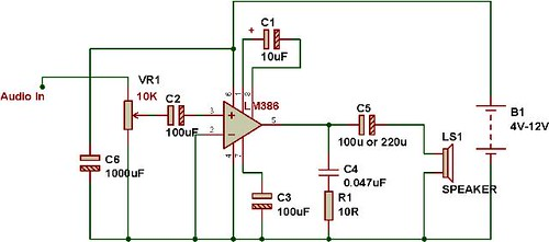 Audio amplifier using LM386 BuildCircuit Electronics