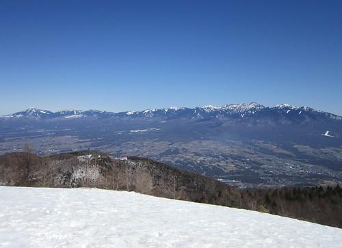 八ヶ岳連峰/入笠山頂から見る 2013年3月12日11:43 by Poran111