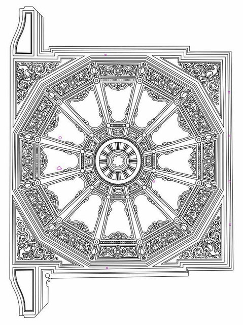 Ceiling plan from laser scan data