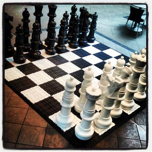life size chess set inside crocker galleria flickr