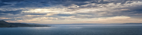 ocean sunset newzealand sky costa clouds landscape mar seascapes silhouettes panoramas paisaje paisagem céu pôrdosol cielo nubes nuvens coastline oceano photostitch novazelândia atmosphericperspective puestadelsol nuevazelanda silhuetas 2013 perspectivaatmosférica