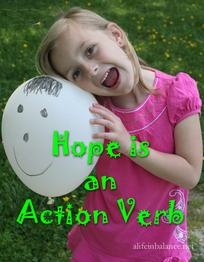 Hope is an Action Verb