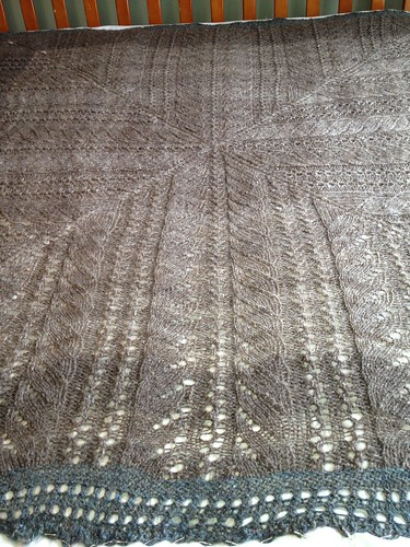 Blocking Giant Lace Blanket