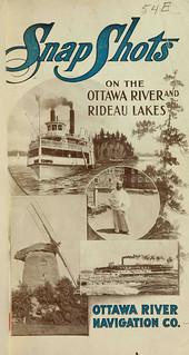 Snap shots on the Ottawa River and Rideau lakes / Instantanés photographiques de la rivière des Outaouais et de Rideau Lakes [traduction libre]