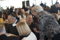 Sally & David Mendelson enjoy the luncheon