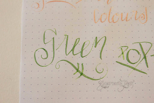 J. Herbin Pearlescent Ink Writing Sample Close Up