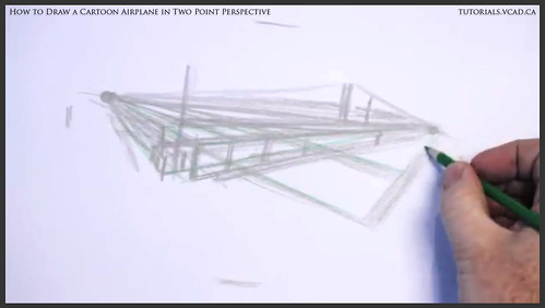 learn how to draw a cartoon airplane in two point perspective 006