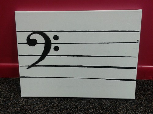 Bass Clef Canvas