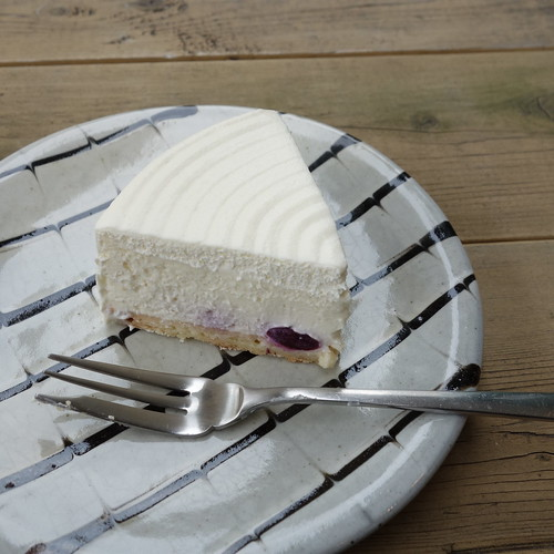 bikiniの、白いチーズケーキ。