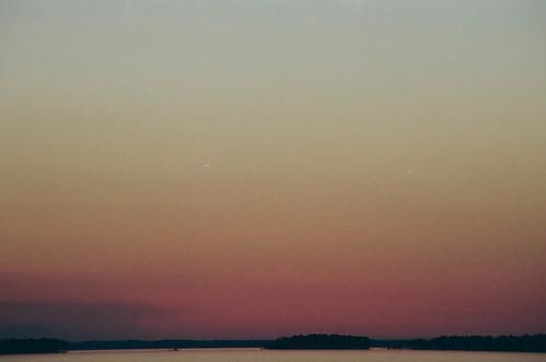 sunset color film canon kodak southcarolina a1 canona1 lakemurray kodakportra400 2013 lakemurraydam colorfp