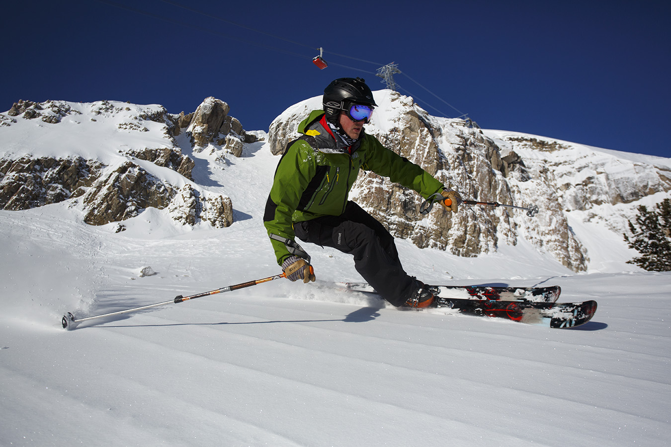 3/25/2013 – From smooth corduroy cruising, to Corbet's Couloir, the view is always breathtaking in Jackson Hole.