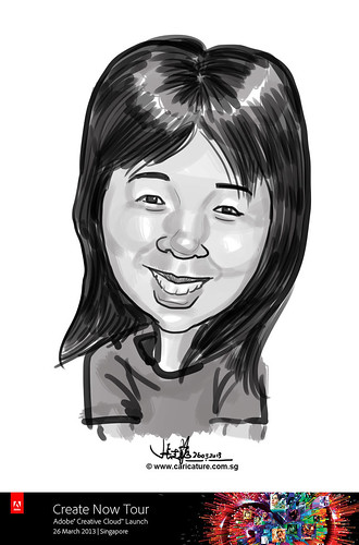 digital caricature for Adobe Create Now Tour - Ang Siew Huang